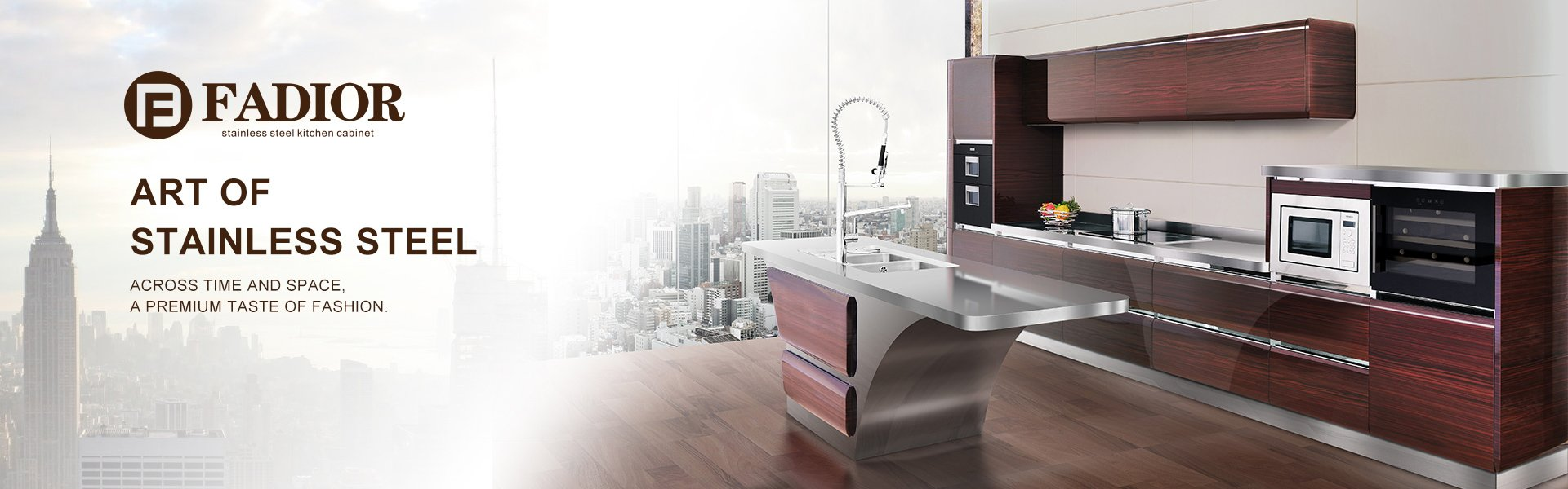 Custom Luxury High End Stainless Steel Kitchen Cabinets