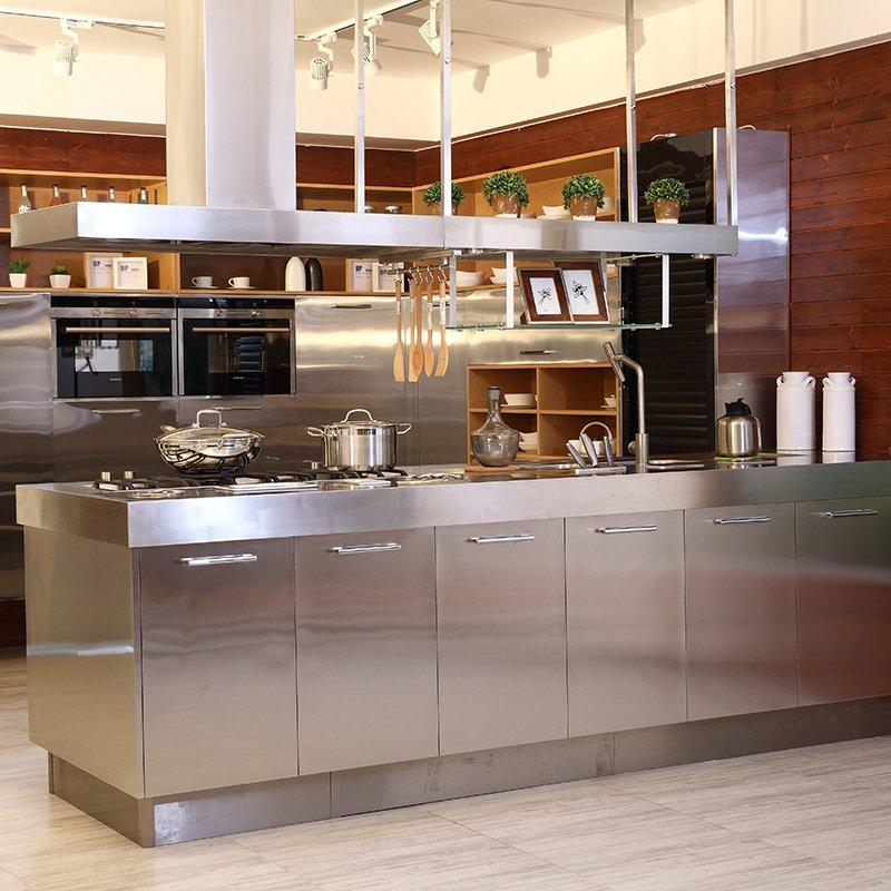 Z006 Caesr - Modern Style Stainless Steel Kitchen with Island