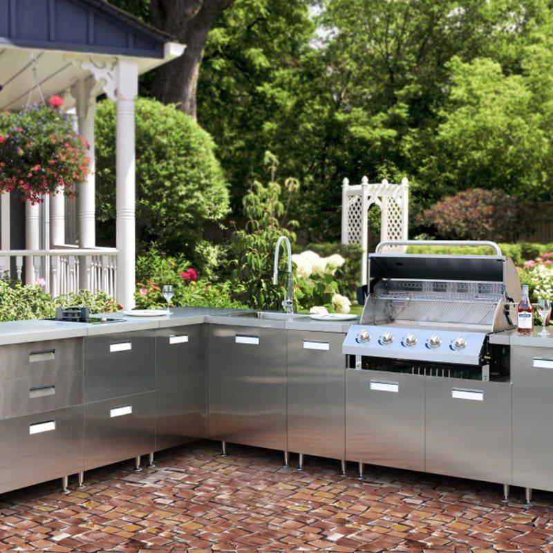 304 Stainless Steel Kitchen  Cabinet for Outdoor Party and BBQ - HY001