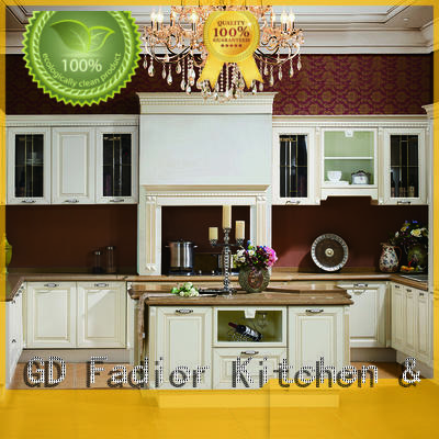 Fadior Stainless Steel Kitchen Cabinets counter top bamboo kitchen cabinets factory for home