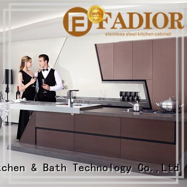 Fadior Stainless Steel Kitchen Cabinets vinci stainless steel cabinet shelves company for mansion