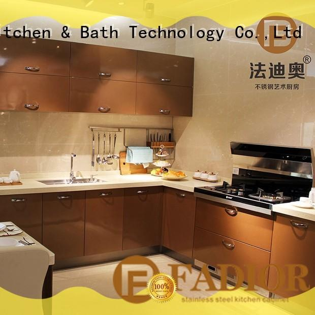 Fadior Stainless Steel Kitchen Cabinets Latest personalized for household