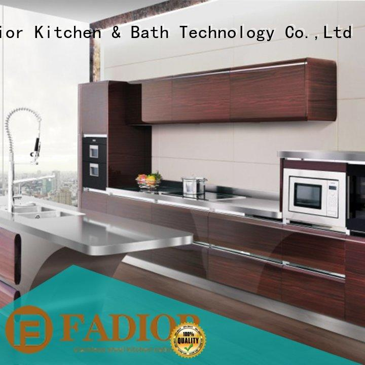 Fadior Stainless Steel Kitchen Cabinets High-quality stainless steel outdoor kitchen sink for hotel