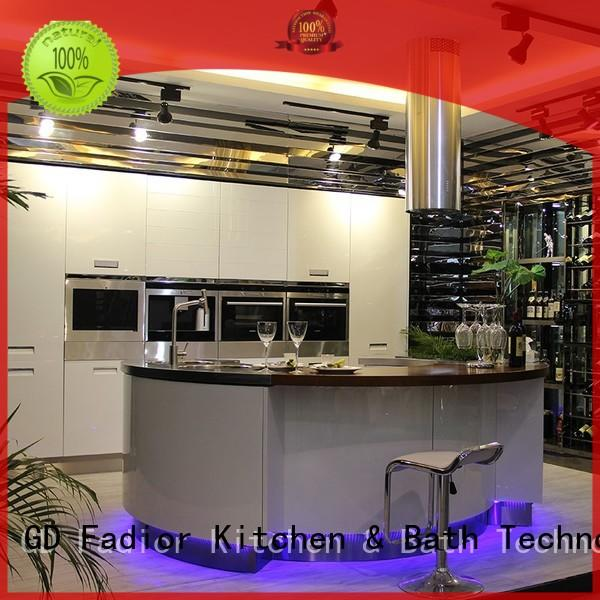rose white metal kitchen cabinets bronze for household Fadior Stainless Steel Kitchen Cabinets