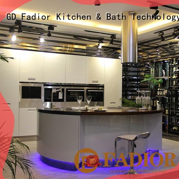 X006 BurjAl - Villa Open Kitchen Stainless Steel Round Island