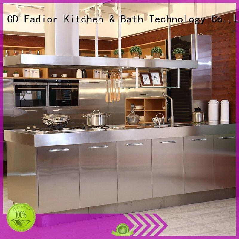 Fadior Stainless Steel Kitchen Cabinets hygienic stainless steel kitchen cabinets online india Suppliers for home